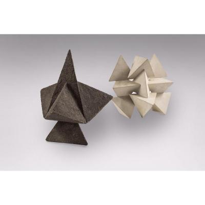 Daniel-jacques Allonsius - 2 Sculptures En Panneaux De Bois