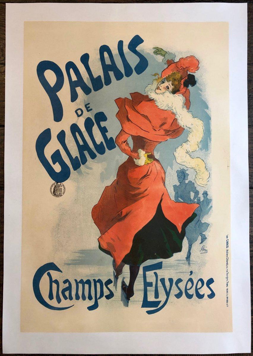 Jules Chéret 1836-1932 Poster Ice Palace Champs Elysées