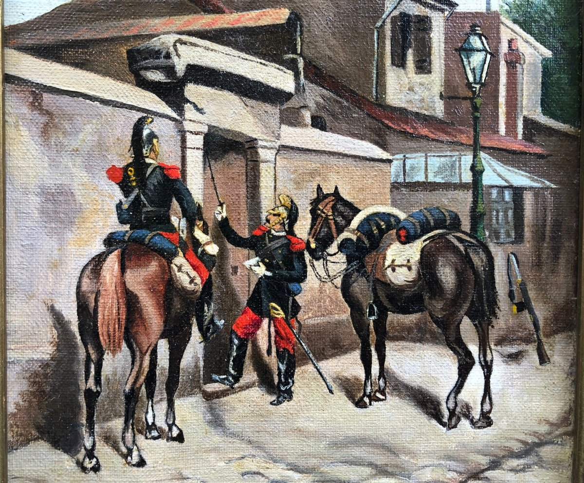 Edouard Detaille 1848-1912 Military Cavaliers The Letter-photo-1