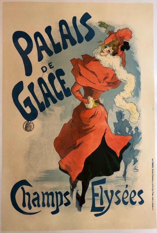 Jules Chéret 1836-1932 Poster Ice Palace Champs Elysées-photo-2