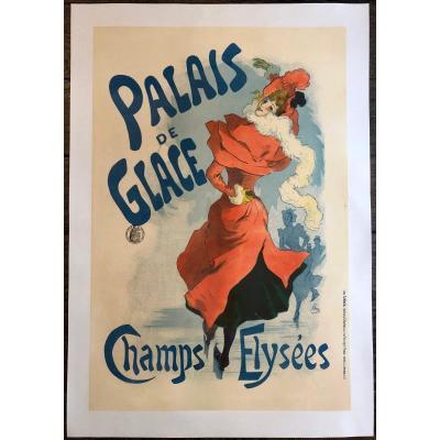 Jules Chéret 1836-1932 Affiche Palais De Glace Champs Elysées