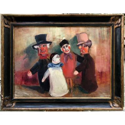 Guignol Puppets Signed To Identify