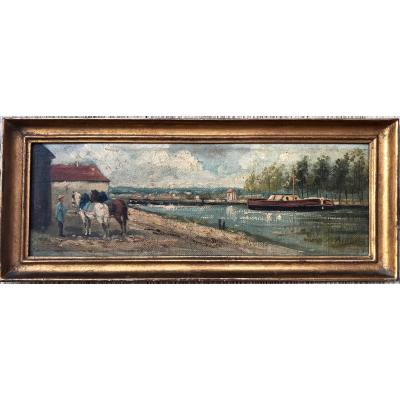 Signed Albin? To Be Identified Around 1880/1900 Towpath
