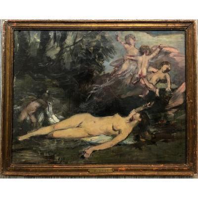 Gustave DorÉ 1832-1883 Former Attribution Venus And Love