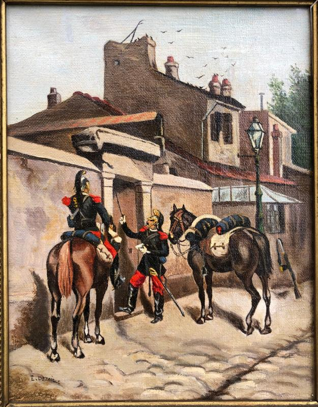 Edouard Detaille 1848-1912 Military Cavaliers The Letter-photo-2