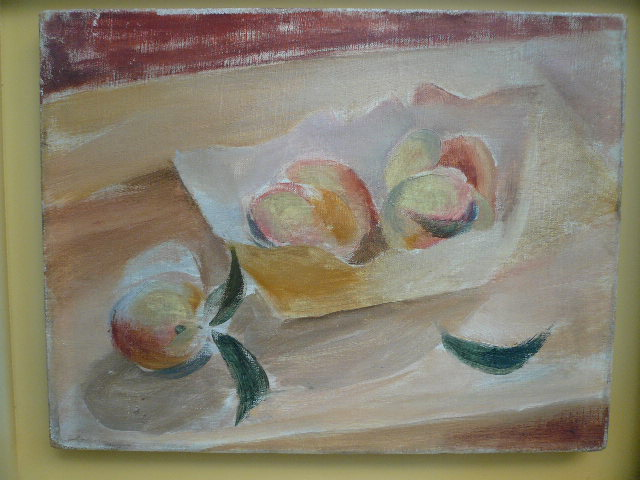 "Roger Chastel Oil Painting On Canvas ""fruit Composition"""