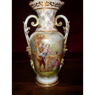 Vase En Porcelaine De Limoges d'époque Fin XIXème Siècle