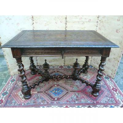 Office Table Louis XIII Style XIXth Century