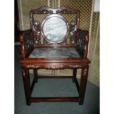 Armchair Of Dignitary China Or Indochina Period End Of XIXth Century