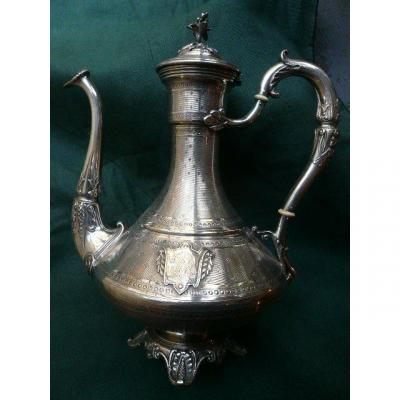 Jug In Sterling Silver: Goldsmith Auguste Louis Fizaine
