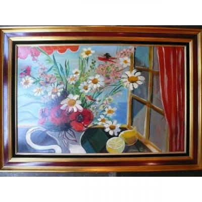 """Monic Luce """"flowers In Front Of The Window"""""""