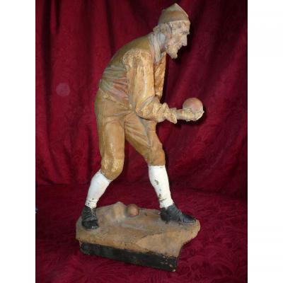 Sculpture En Terre Cuite Signée A. Kuhne d'époque 19ème Siècle