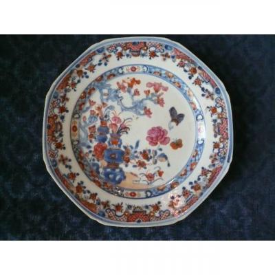 Assiette En Porcelaine Chinoise De Commande Européenne (compagnie Des Indes)