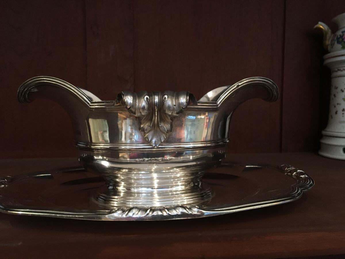 Silver Sauceboat By Boin Taburet