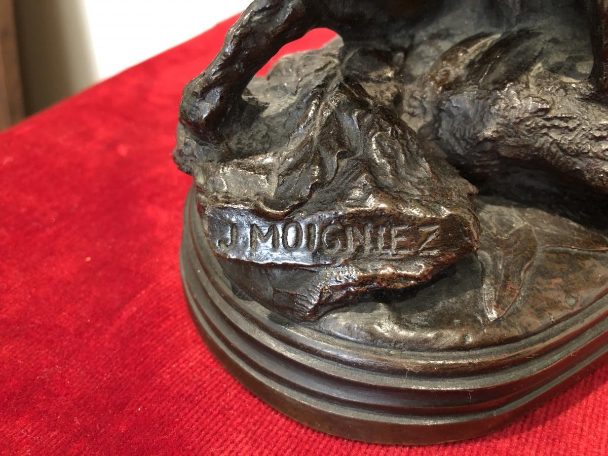 Bronze «Chien de Chasse» de Moigniez-photo-2