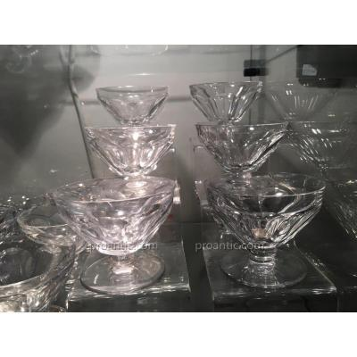 Baccarat-modele Talleyrand 13 Coupes A Champagne Annees 1940