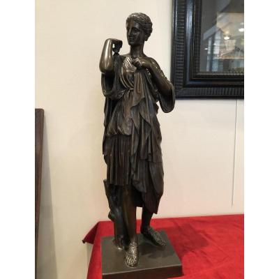"Bronze ""diane De Gabies"" Fonte Barbedienne"