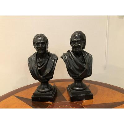 Pair Of Bronzes On Piedouche