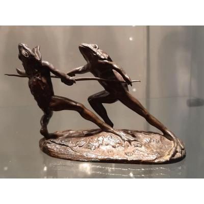 Bronze Duel Of Frogs