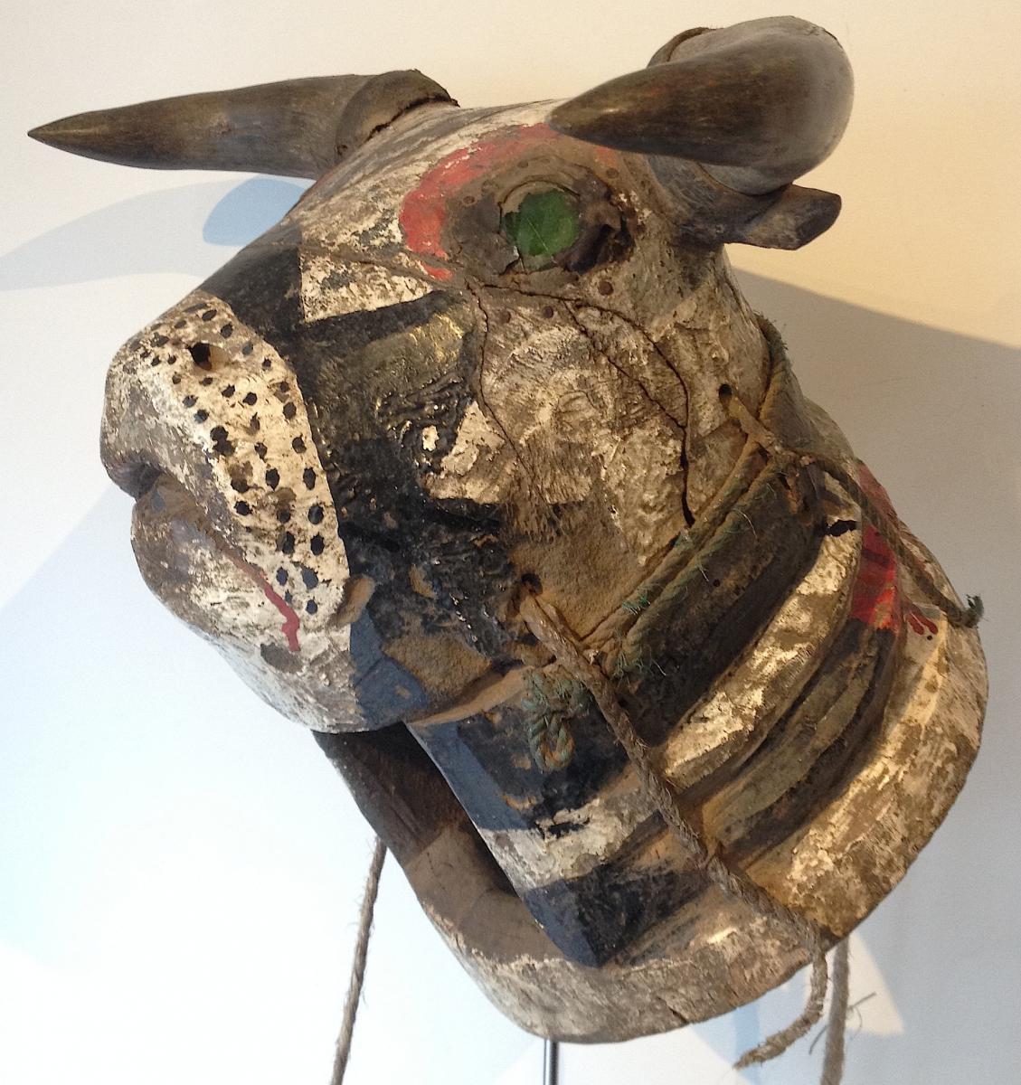 Masque Essenié Ou Vaca Bruto. Bijogo, Guinée Bissau. Milieu XXe Siècle.