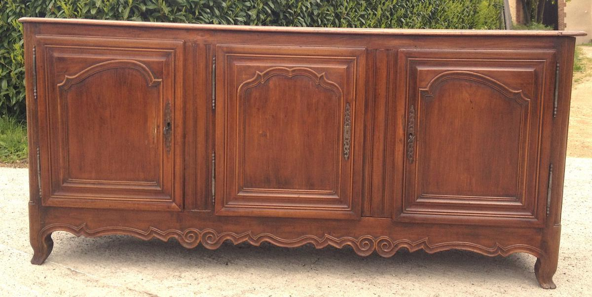 Cherry Sideboard 3 Doors. Central France. 18th Century.-photo-5