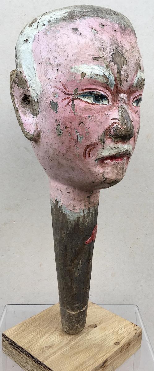 Statue Head Dynasty Qing. China19th Century.