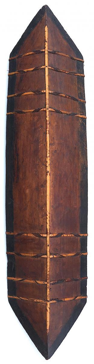 Iban Shield Wood And Rattan, Dayak. Kalimantan Borneo. Early 20th Century.