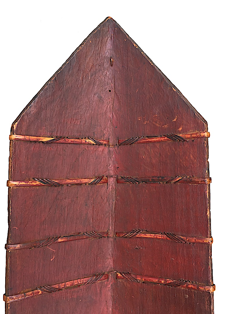 Iban Shield Wood And Rattan, Dayak. Kalimantan Borneo. Early 20th Century.-photo-1