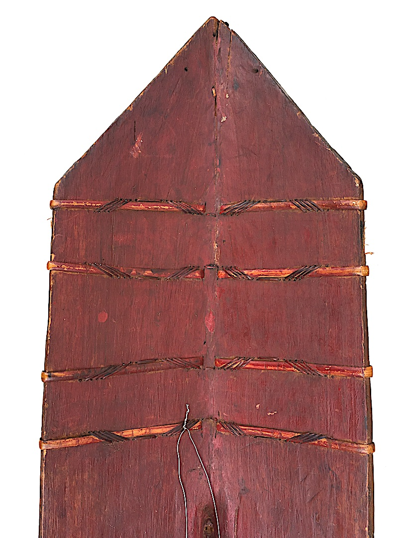 Iban Shield Wood And Rattan, Dayak. Kalimantan Borneo. Early 20th Century.-photo-2