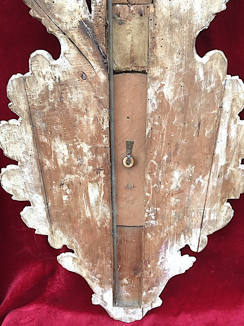 Baromètre En Bois Doré Louis XVI. France XVIIIe Siècle. -photo-1