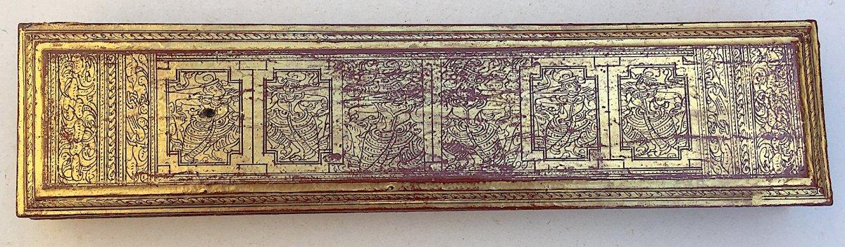 Rare Prayer Book Kamawa Sa. Burma Myanmar, Early 20th Century.-photo-1