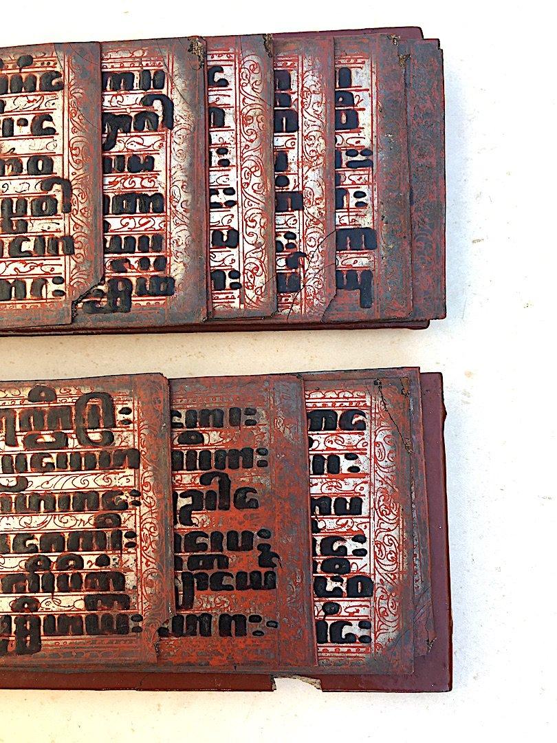 Rare Prayer Book Kamawa Sa. Burma Myanmar, Early 20th Century.-photo-5