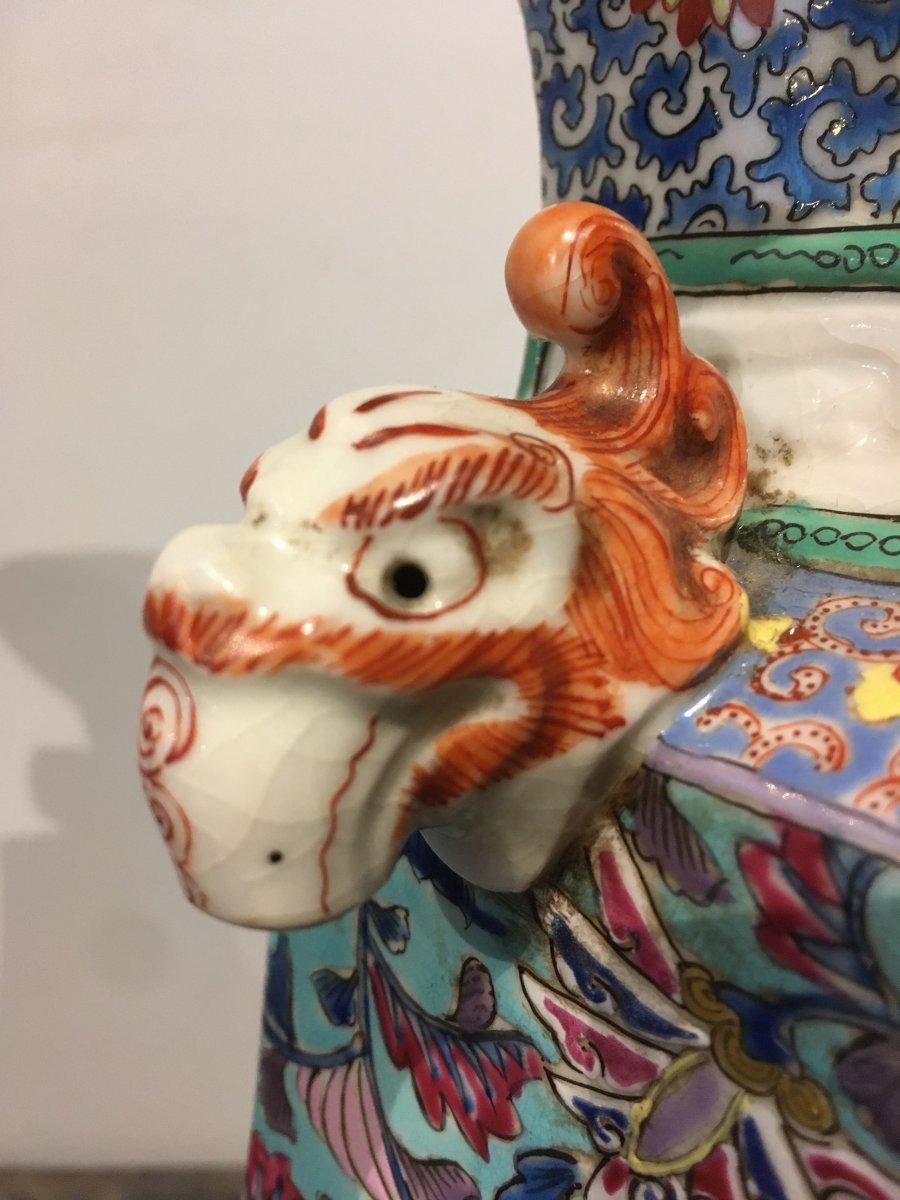Paire De Vases En Porcelaine De Forme Quadrangulaire. Chine Début XIXe Siècle.  -photo-3