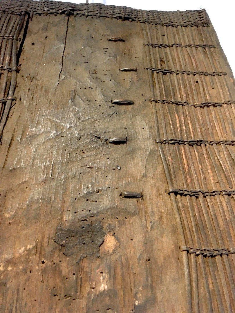 Bouclier En Bois, Bambou Et Rotin Topoké. Afrique Centrale, RDC. Début XXe Siècle.-photo-6
