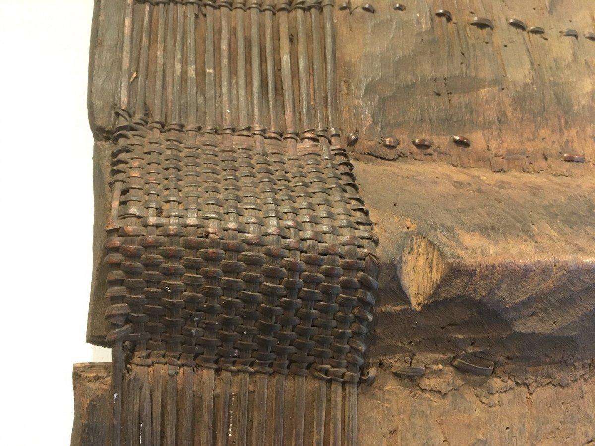 Bouclier En Bois, Bambou Et Rotin Topoké. Afrique Centrale, RDC. Début XXe Siècle.-photo-8