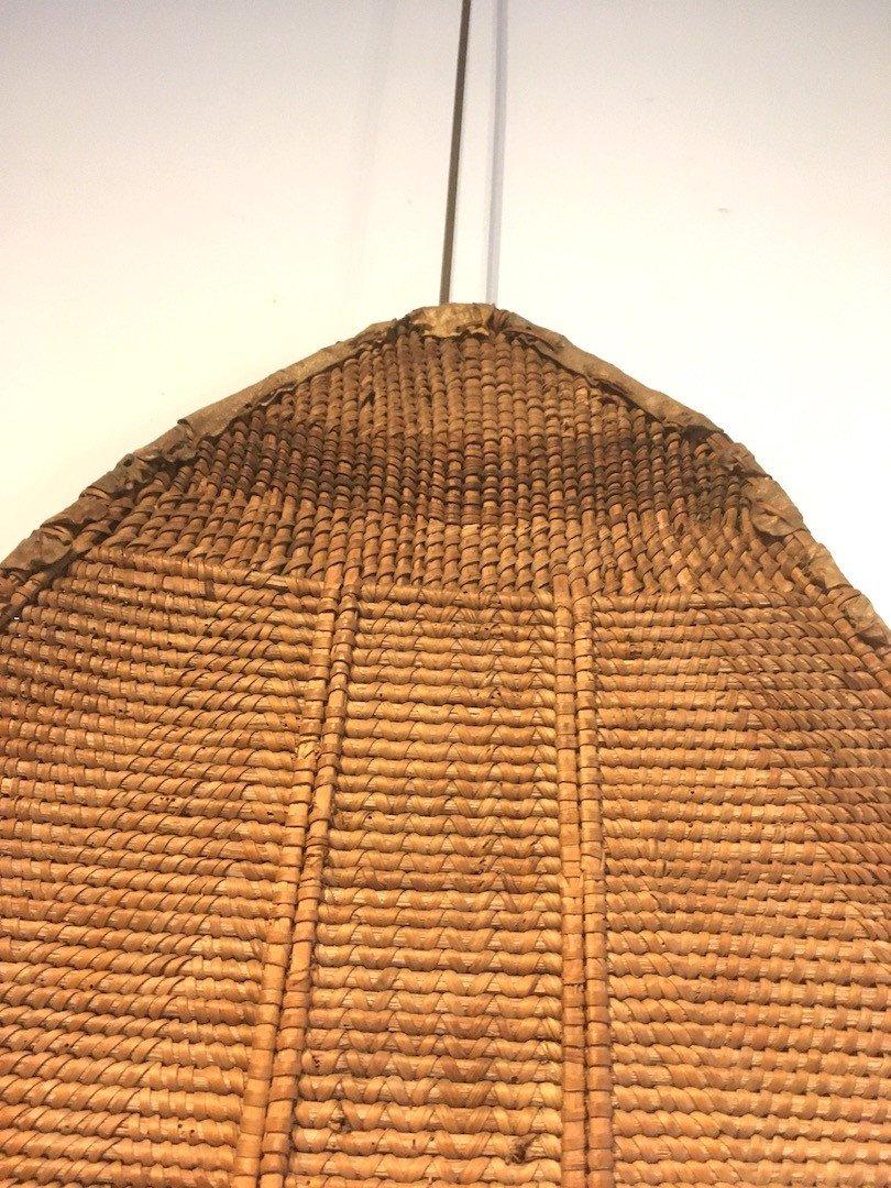 Bouclier en Rotin, bois et peau.  Zandé Manza. Centre Afrique, RDC. Début XXe Siècle.-photo-5