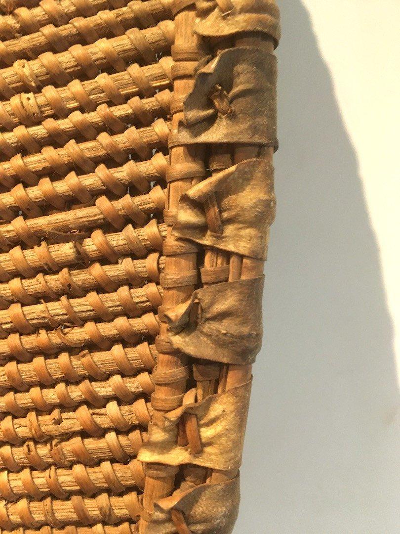 Bouclier en Rotin, bois et peau.  Zandé Manza. Centre Afrique, RDC. Début XXe Siècle.-photo-6