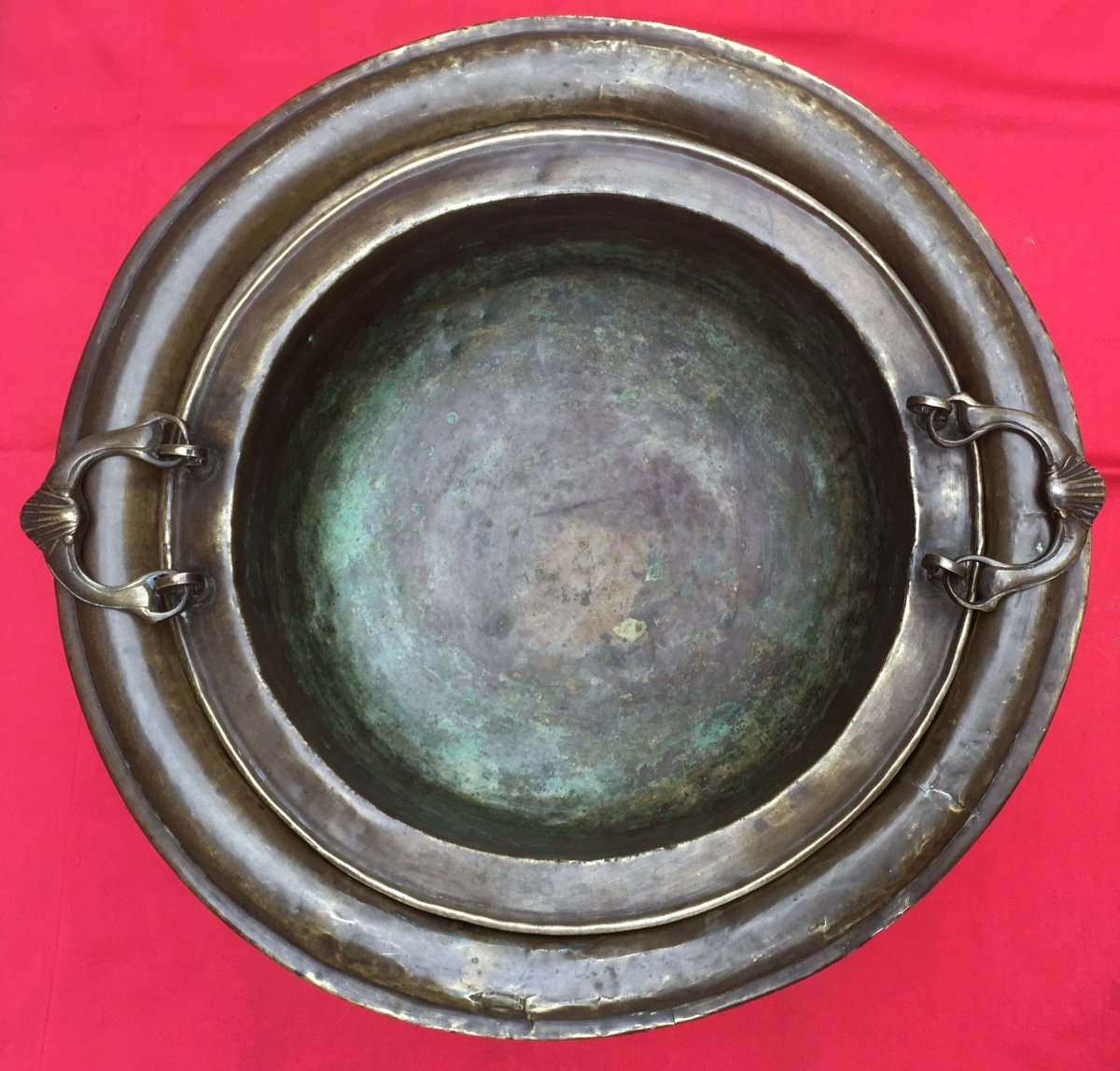 Brasero En Bronze Et Laiton. Espagne Ou Pays Bas Fin XVIIIe - Début XIXe.  -photo-3