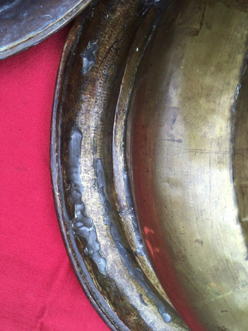 Brasero En Bronze Et Laiton. Espagne Ou Pays Bas Fin XVIIIe - Début XIXe.  -photo-4