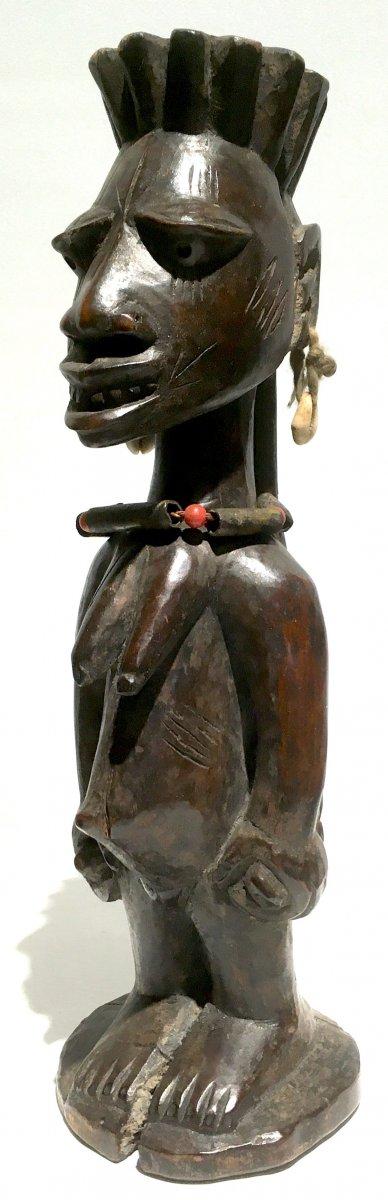 Statuette Féminine Yorouba De Type Ibedji. Nigéria, Bénin Milieu XXe Siècle. -photo-7