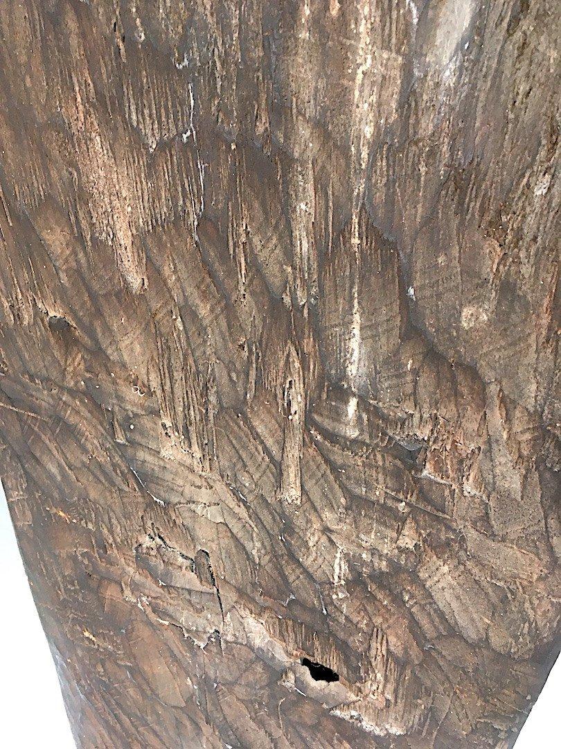 Panneau Naga Bois à Patine Sombre. Nagaland, Inde Et Birmanie. Deuxième Moitié Du XXe Siècle. -photo-5