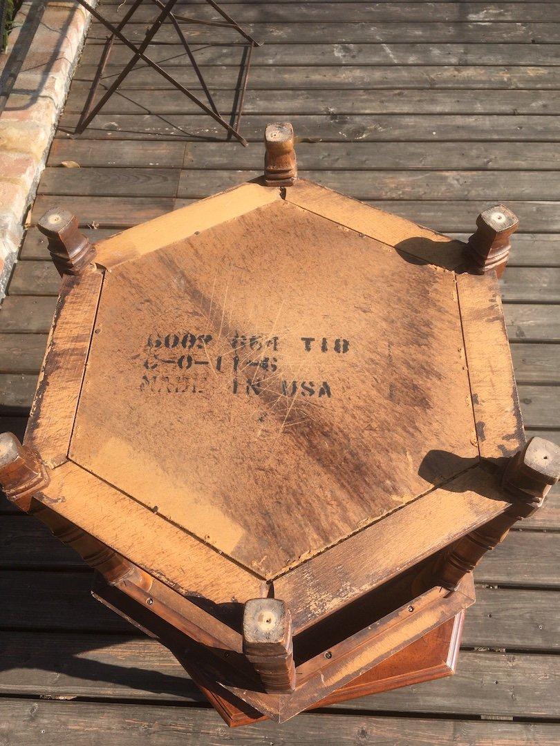 Paire De Tables Basses Américaines En Bois Et Rotin. Usa Début XXe Siècle. -photo-2