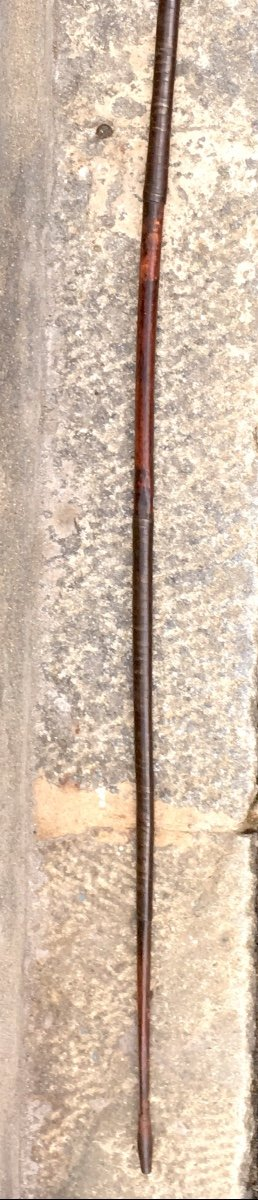 Arc En Bambou Et Fer Avec Contre-poids. Kuba, Congo (rdc) Fin XIXe. -photo-3