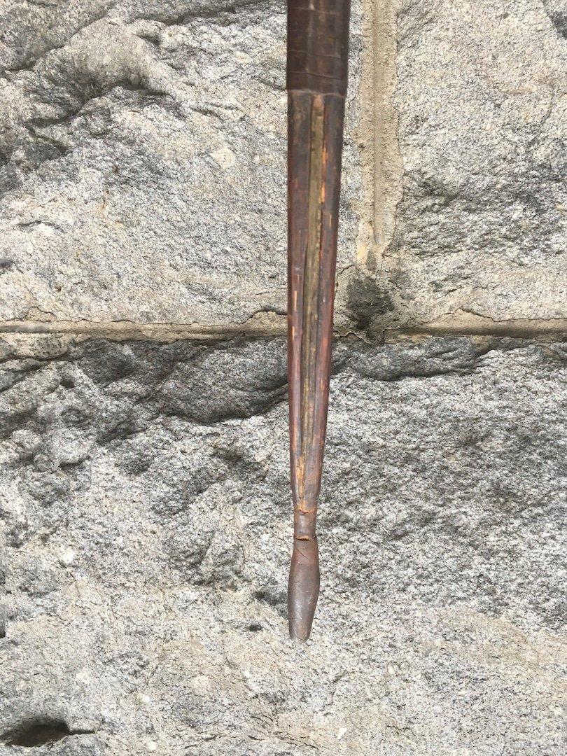 Arc En Bambou Et Fer Avec Contre-poids. Kuba, Congo (rdc) Fin XIXe. -photo-4