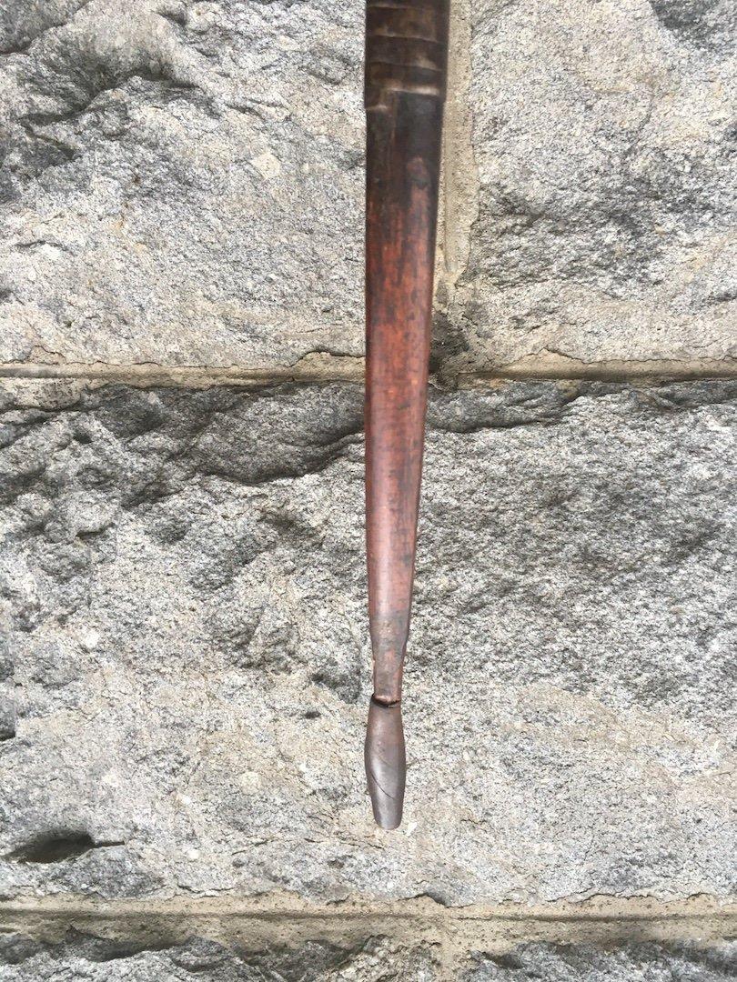 Arc En Bambou Et Fer Avec Contre-poids. Kuba, Congo (rdc) Fin XIXe. -photo-5