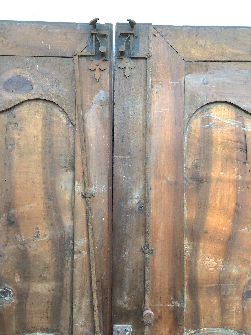 Pair Of Large King Louis XV Walnut Doors. France Mid 18th Century.-photo-6