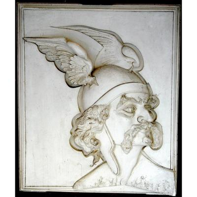 Low Relief Sculpture In Plaster Vercingétorix. France 2nd Half Of The 20th Century.