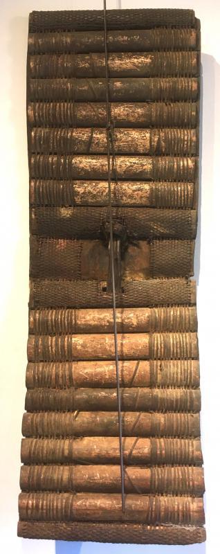 Bouclier En Bois, Bambou Et Rotin Topoké. Afrique Centrale, RDC. Début XXe Siècle.-photo-3