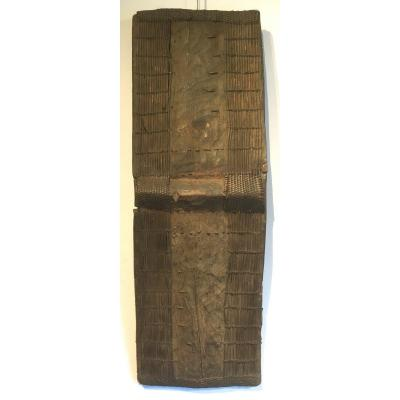 Topoké Wooden, Bamboo And Rattan Shield. Central Africa, Drc. Early 20th Century.