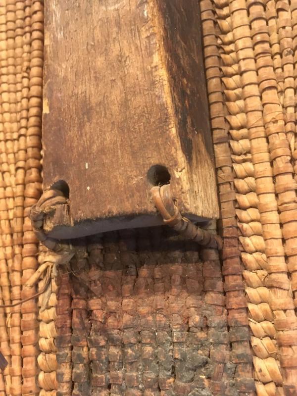 Bouclier en Rotin, bois et peau.  Zandé Manza. Centre Afrique, RDC. Début XXe Siècle.-photo-4